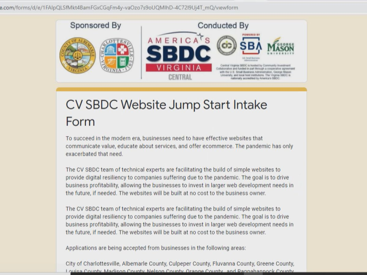 Central Virginia SBDC expanding website program