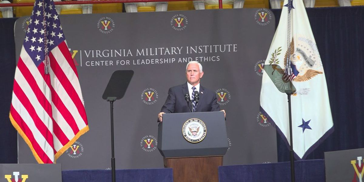 Vice President Mike Pence speaks at Virginia Military Institute