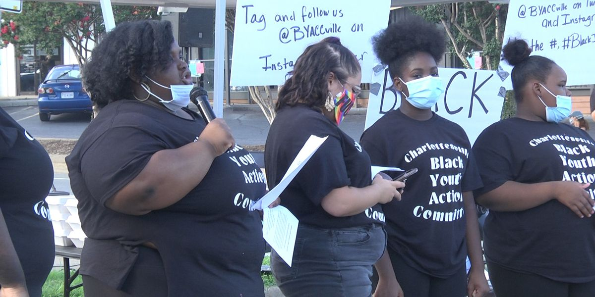 Black Youth Action Committee of Charlottesville shuts down intersection for Black Joy Fest